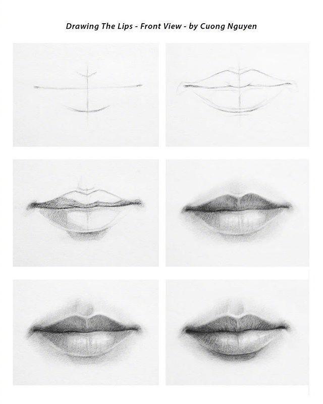 【板绘教程】如何画眼睛、鼻子与嘴唇? 教学教程-第3张