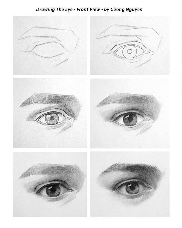 【板绘教程】如何画眼睛、鼻子与嘴唇? 教学教程-第8张