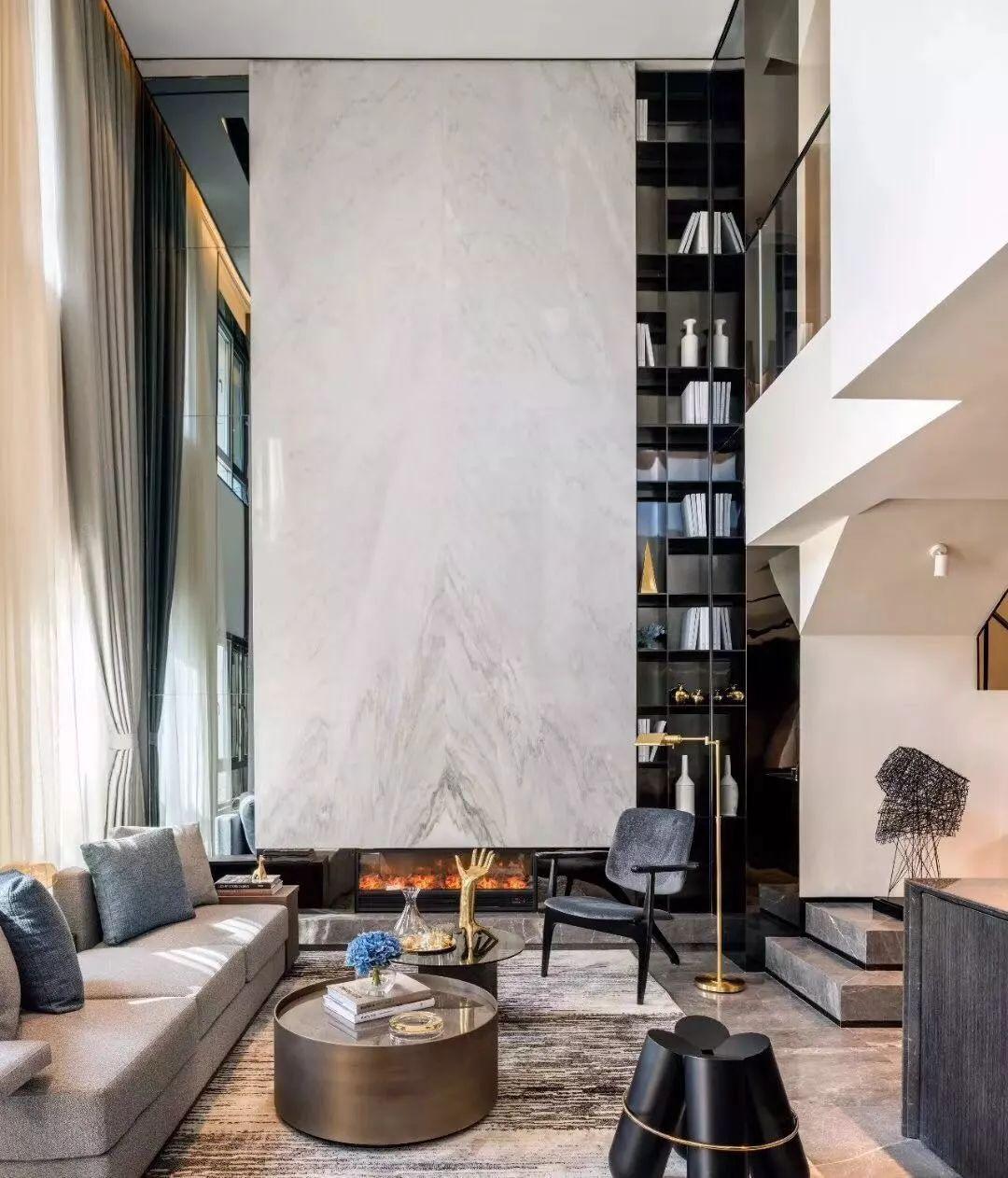 25款别墅挑高客厅设计,借鉴一下