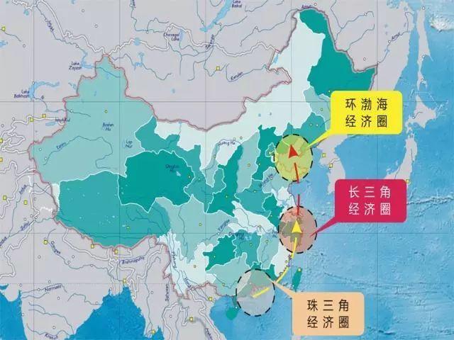 三大经济圈 gdp_中国三大经济圈地图