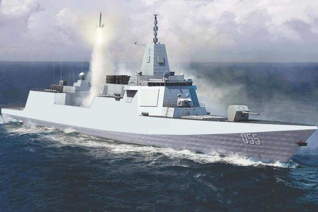 055大驱展示超高机动性, S型蛇皮走位, 中华第一舰!