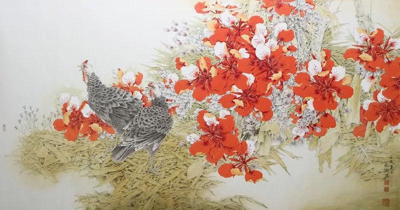 全国工笔花鸟画名家提名展作品欣赏