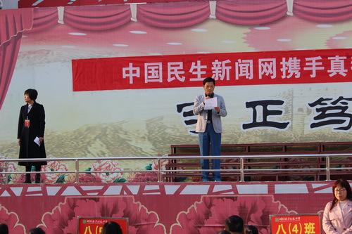 """""""践行中国梦 感恩励志行""""活动走进桐柏县方树泉中学"""