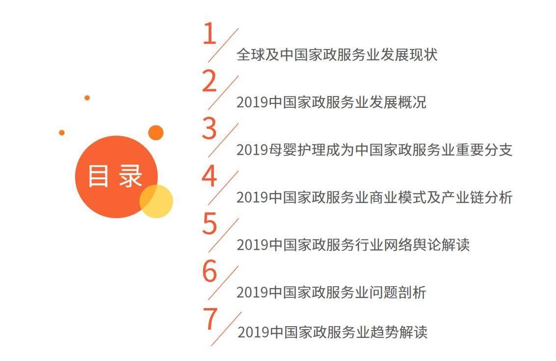 [2019中国家政服务行业发展剖析及行业投资机遇分析报告]家政服务公司价目表