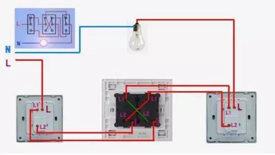 最全电器开关接线图 单控 双控 三控 四控 孔单