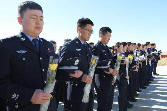 珠恩嘎达布其出入境边防检查站开展清明祭英烈活动