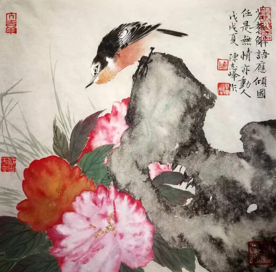 寥寥数笔,风韵气骨尽在纸上——青年画家陈志峰花鸟作品欣赏