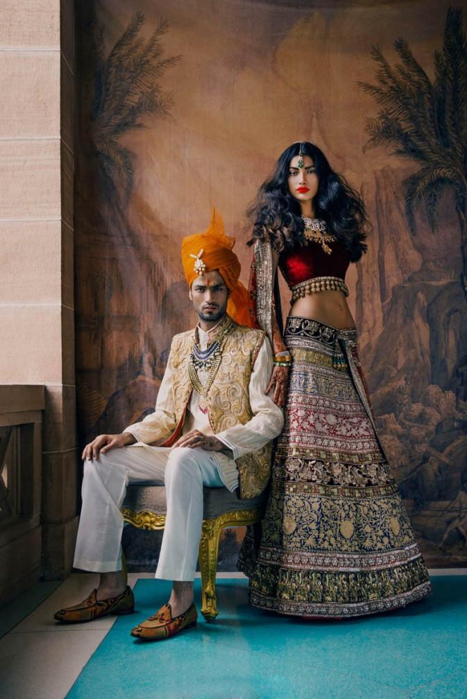 镜头纪录传统的印度婚礼