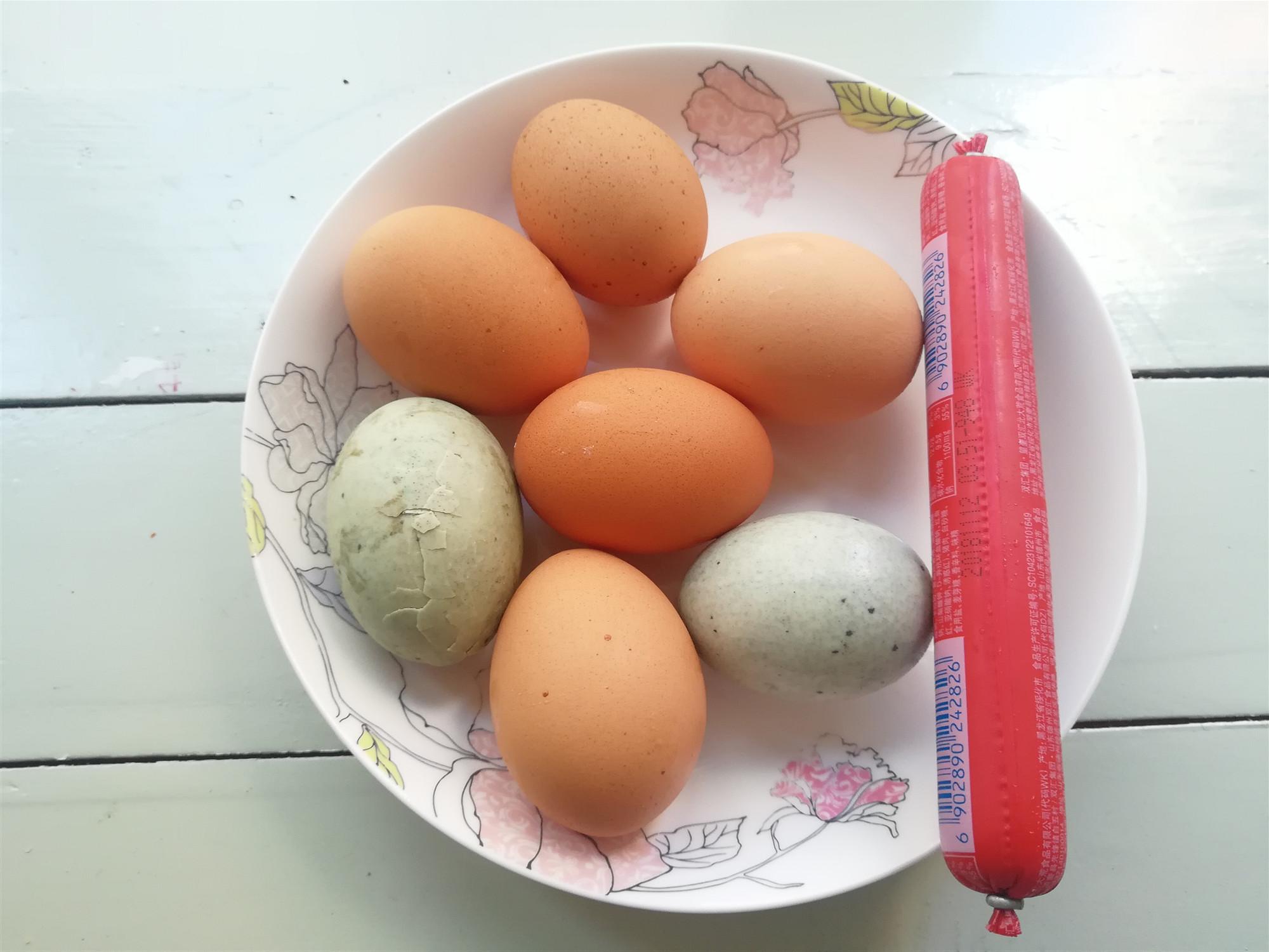 教你做黄金三色蛋,做法简单颜值高,家里来客人做拼盘也不错