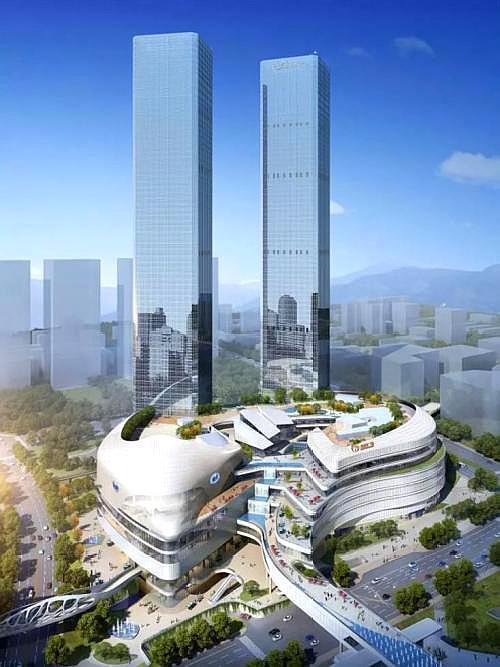 中国最高的双子塔,投资超过百亿元,高406米,建在西部二线城市