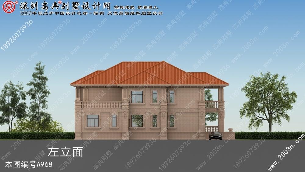 农村二层小别墅, 别墅设计图纸, 农村房屋设计图