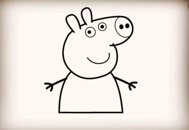 期待已久的小猪佩奇简笔画来啦,赶快学起来 巧手教育