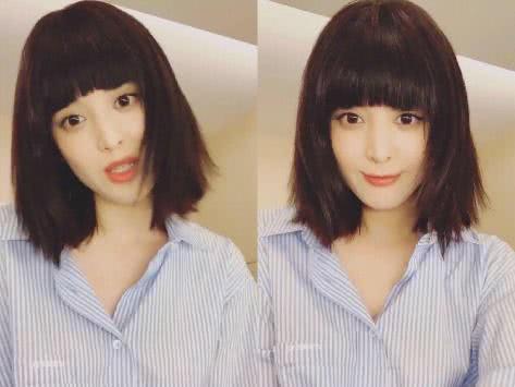 原创娜扎首次尝试齐刘海妹妹头尴尬撞脸范冰冰,气质却被称赫本第二?