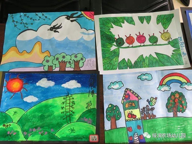 绥滨农场幼儿园开展 美丽的春天 主题绘画比赛