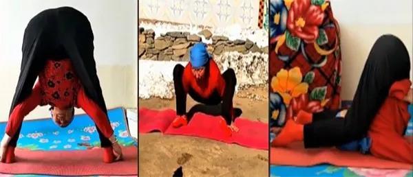 76岁老奶奶能倒立劈叉:瑜伽从来没有年龄限制