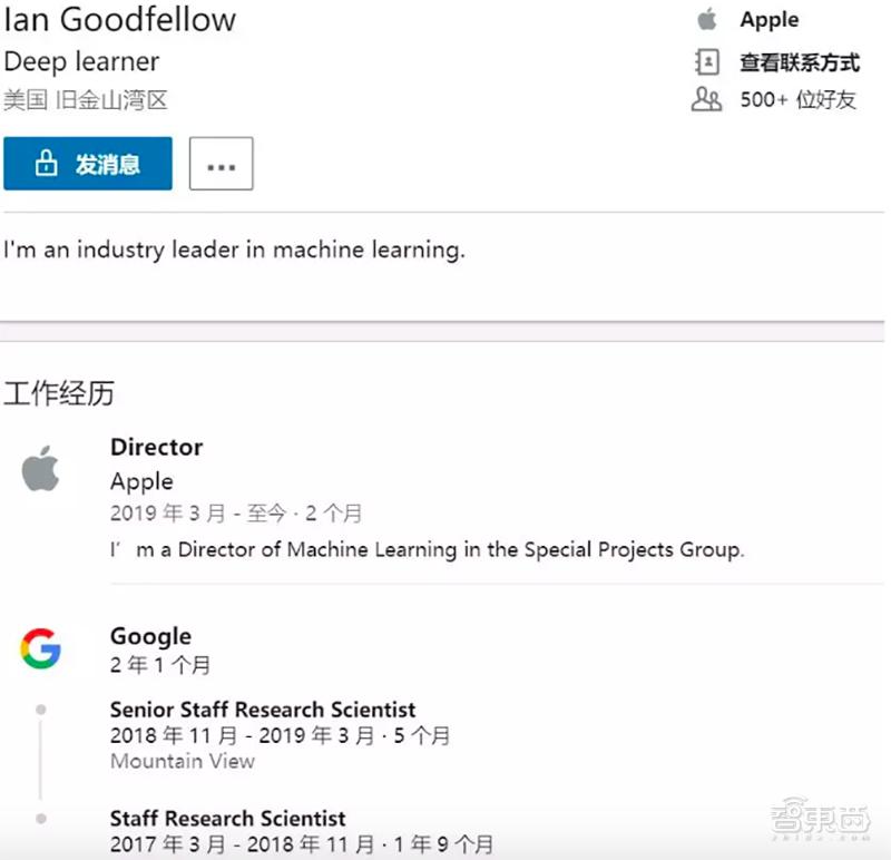 苹果再挖谷歌AI大神GAN之父!加入CEO库克直管神秘小组