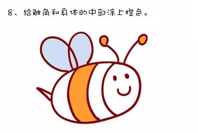 幼儿简笔画 勤劳的小蜜蜂