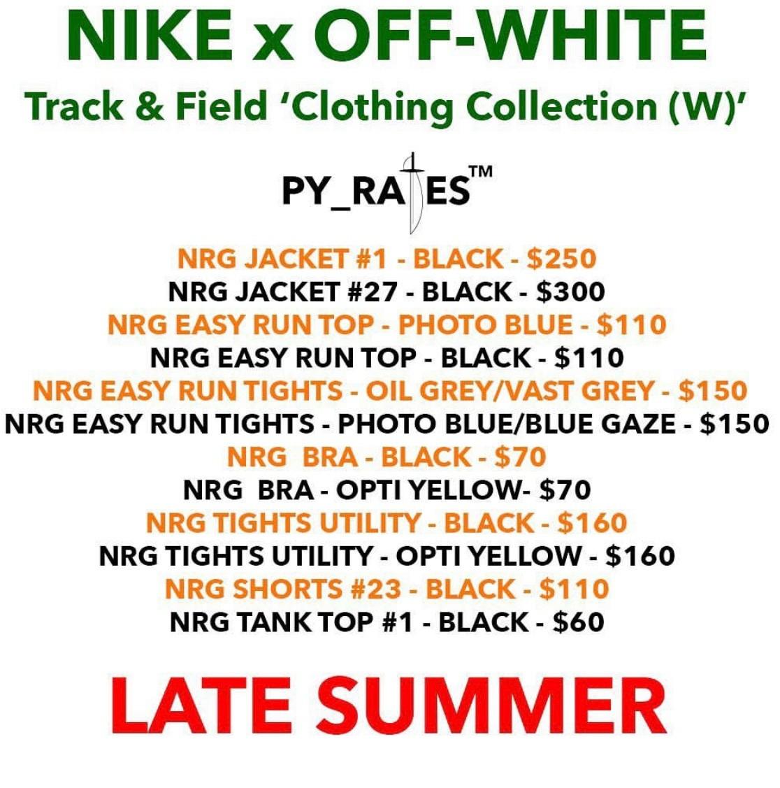 《Virgil Abloh x Nike合作确认回归?多款联乘单品发售曝光!?》