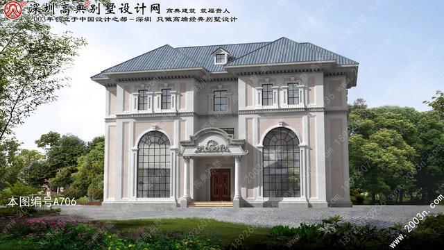 欧式别墅设计图纸首层211平方米三层欧式小别墅