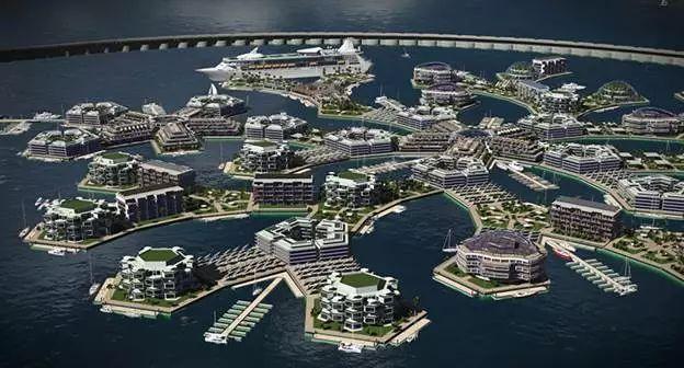 """你见过 """"漂浮城市"""" 吗?联合国计划未来将人类迁徙到那里!"""