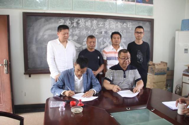 勐海勐冈生态茶基地非遗战略合作生产基地签约仪式