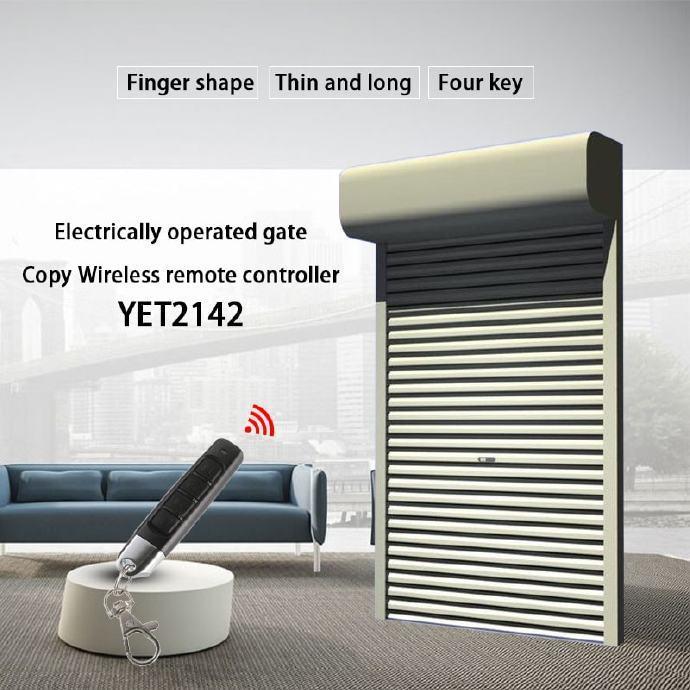 迷你车库卷帘门遥控器YET2142可以作为拷贝遥控器使用。