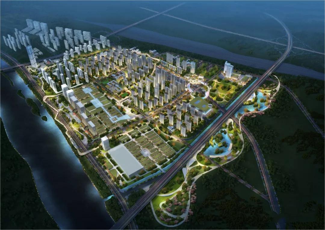 首先是安宁中央商务区,在此前的中央商务区的城市设计竞赛中,就提到图片