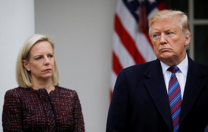 """尼尔森:不受特朗普信任的移民政策""""执行官"""""""