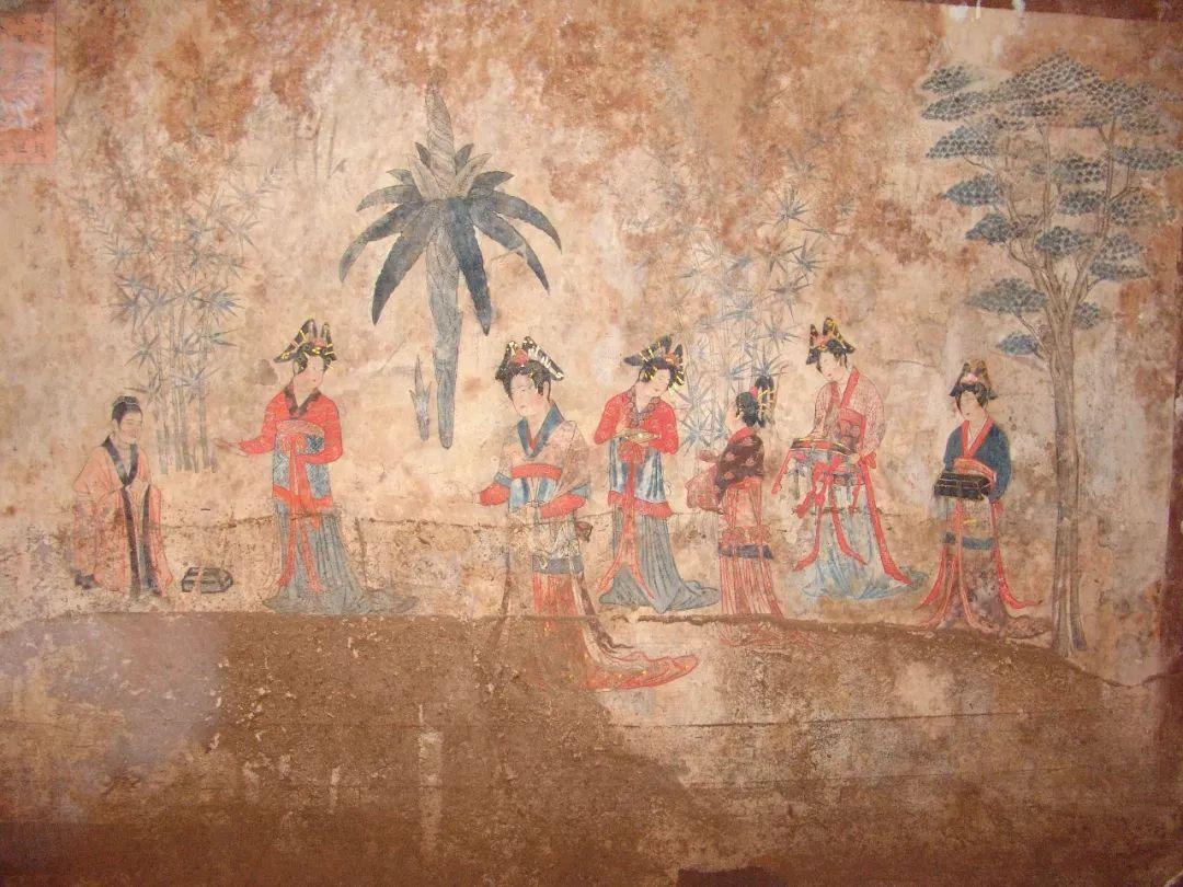 【头条】赤峰千年辽墓壁画,为您讲述魏晋才女的爱情故事,快进来看看!