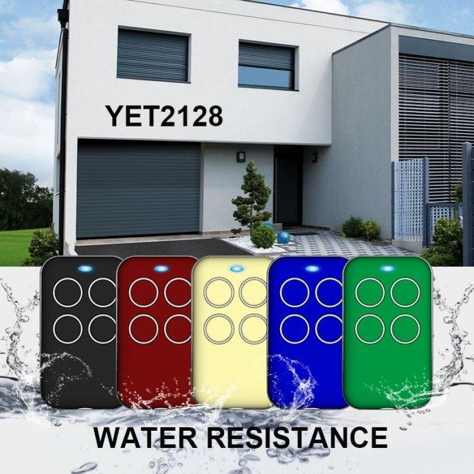 防水型车库门遥控器YET2128有5款颜色可选。