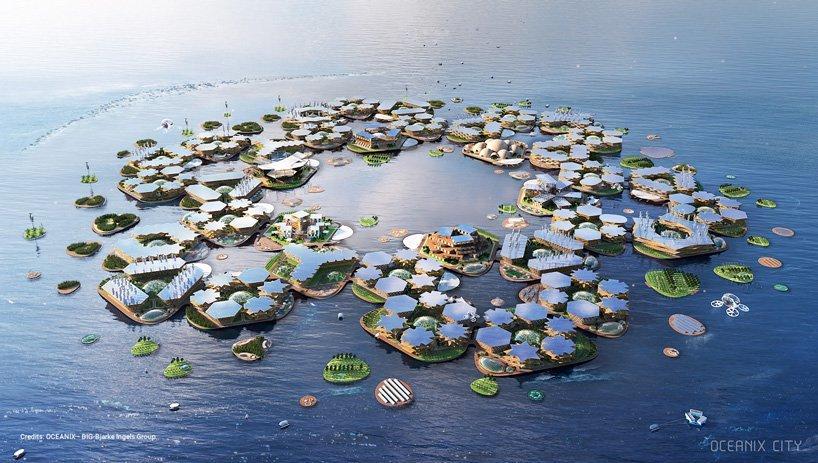 设计 Google 总部的建筑事务所,这次要打造一座漂浮城市