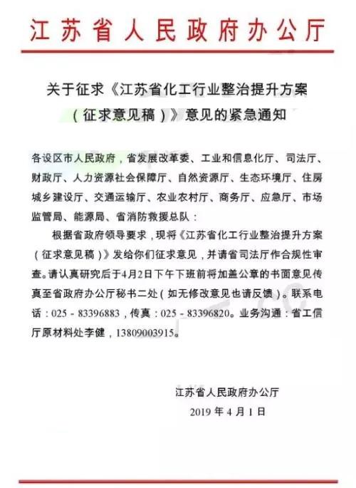 紧急通知:江苏省关闭34个化工园,1000家企业倒闭!
