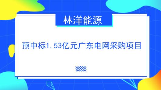 <b>林洋能源预中标1.53亿元广东电网采购项目</b>