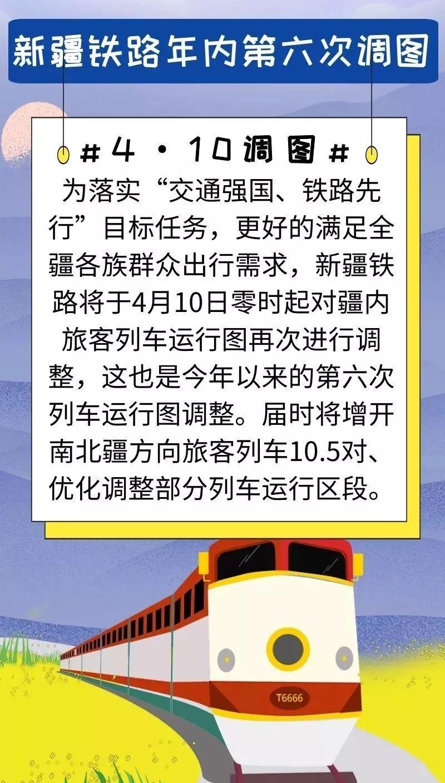 新疆铁路年内第六次调图,库尔勒再添3对始发列车!