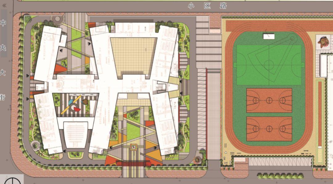 棣州希贤学校平面图
