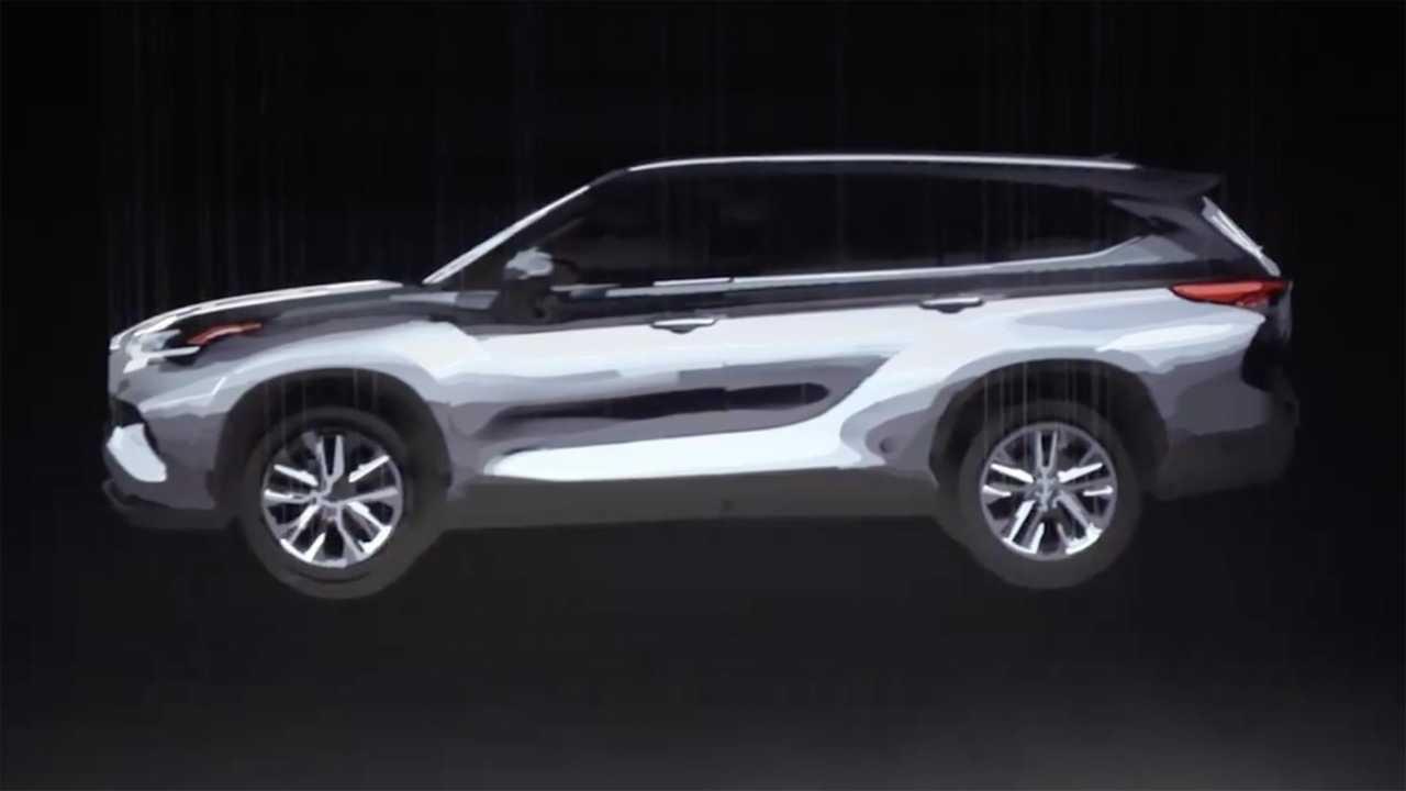 2020款丰田汉兰达3D设计图曝光 格栅直立 溜背式造型 明年推出