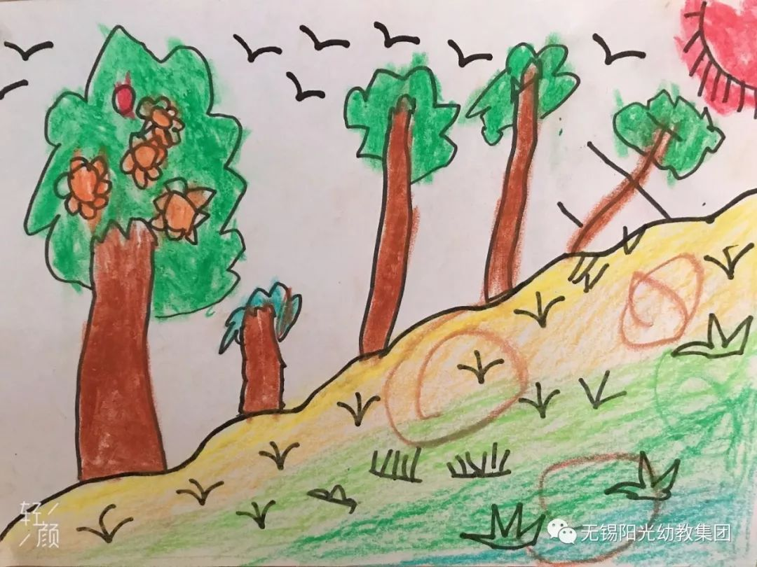 春天的儿童画图片_儿童画春天的图片大全