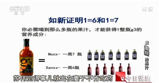 """g3果汁_今日说法:女子喝能""""治病""""的如新果汁死亡事件调查_林丽"""