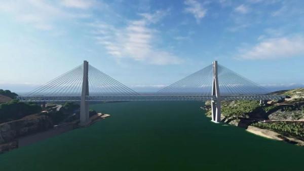 重庆在建的一座长江大桥,长877.8m,双层4线,创下多个国内之最