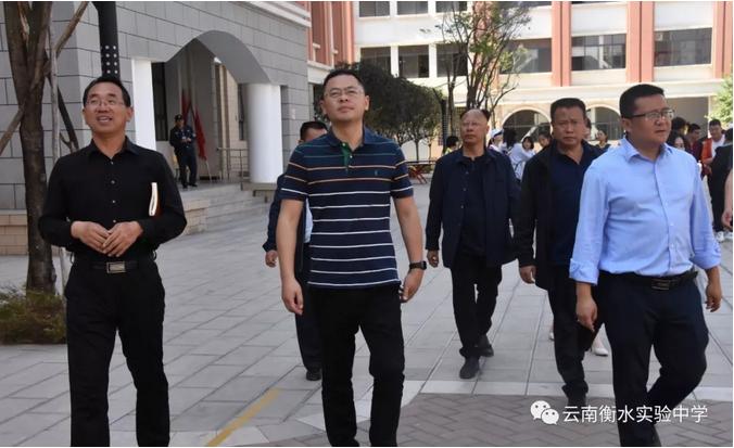 宜良县副县长杨洪坤到云南衡水实验中学宜良校区调研