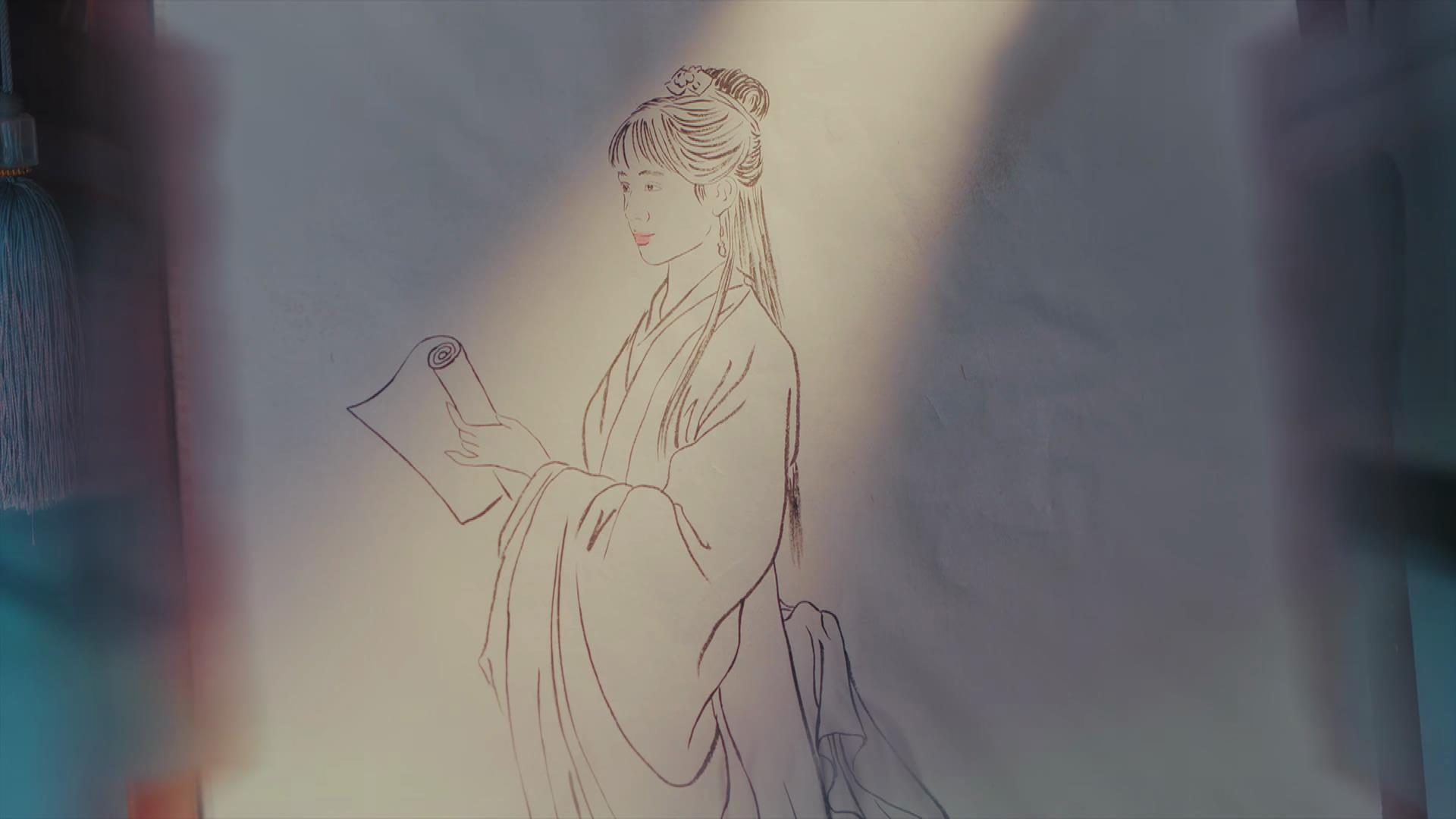 新白娘 剧组缺钱 许仙笔下白素贞画像无美感,一点都不像本尊