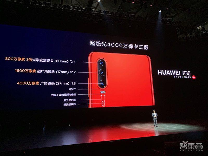 华为首款潜望镜头变焦手机P30 Pro国行开售,5488元起