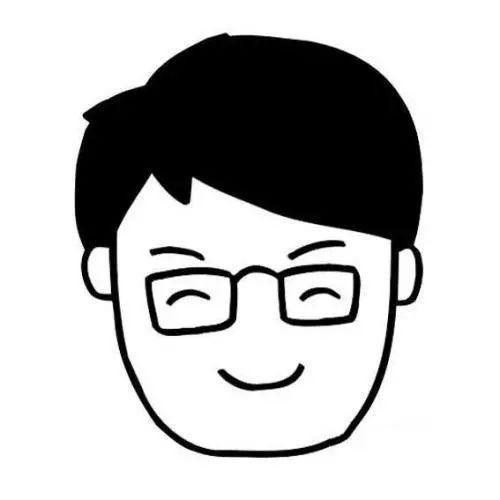 爸爸头像简笔画图片 戴眼镜的爸爸
