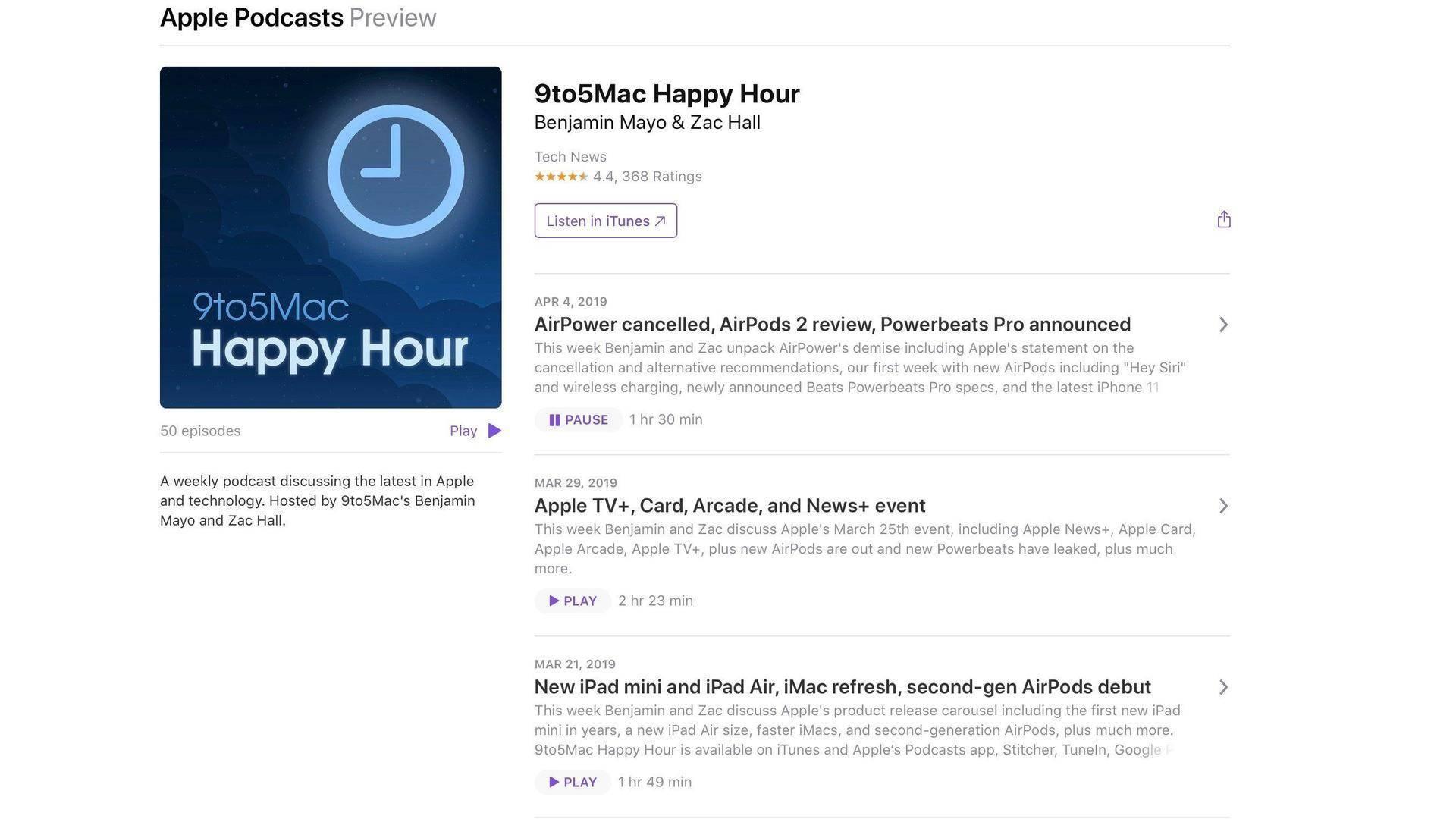 苹果播客网页迎更新 在线预览更完整