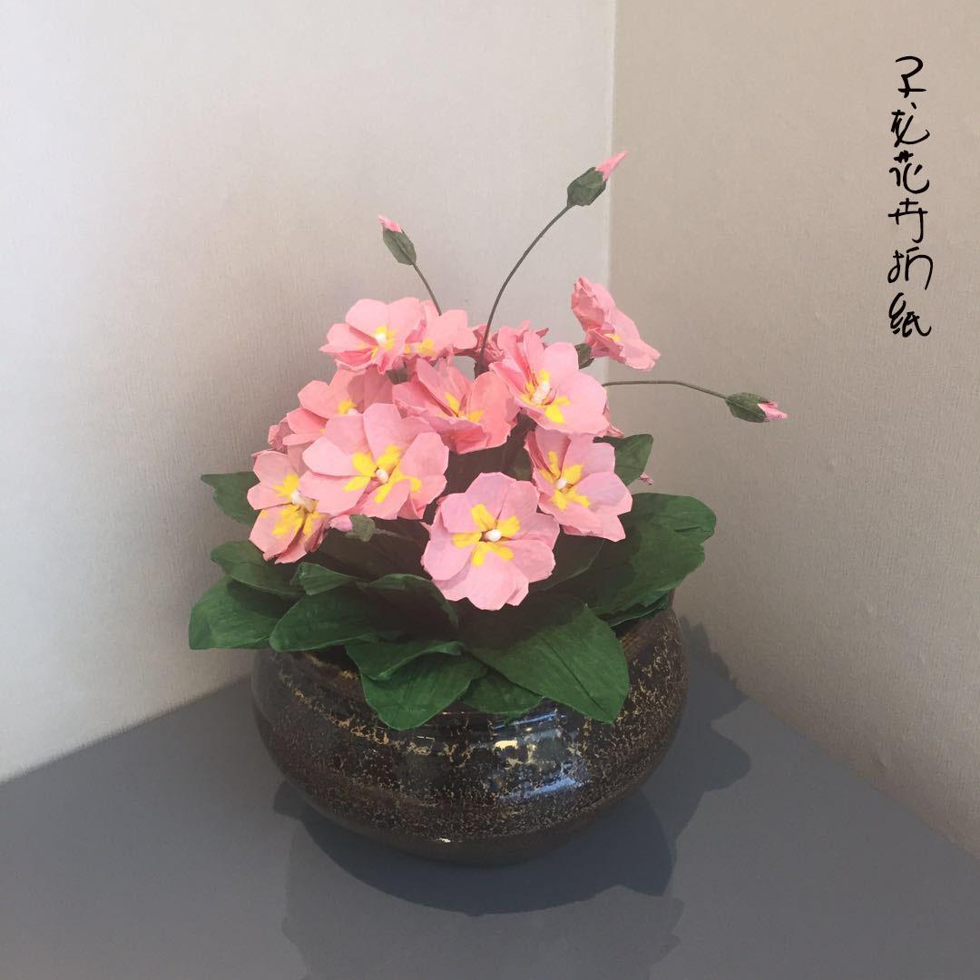 纸藤绣球花制作视频教程