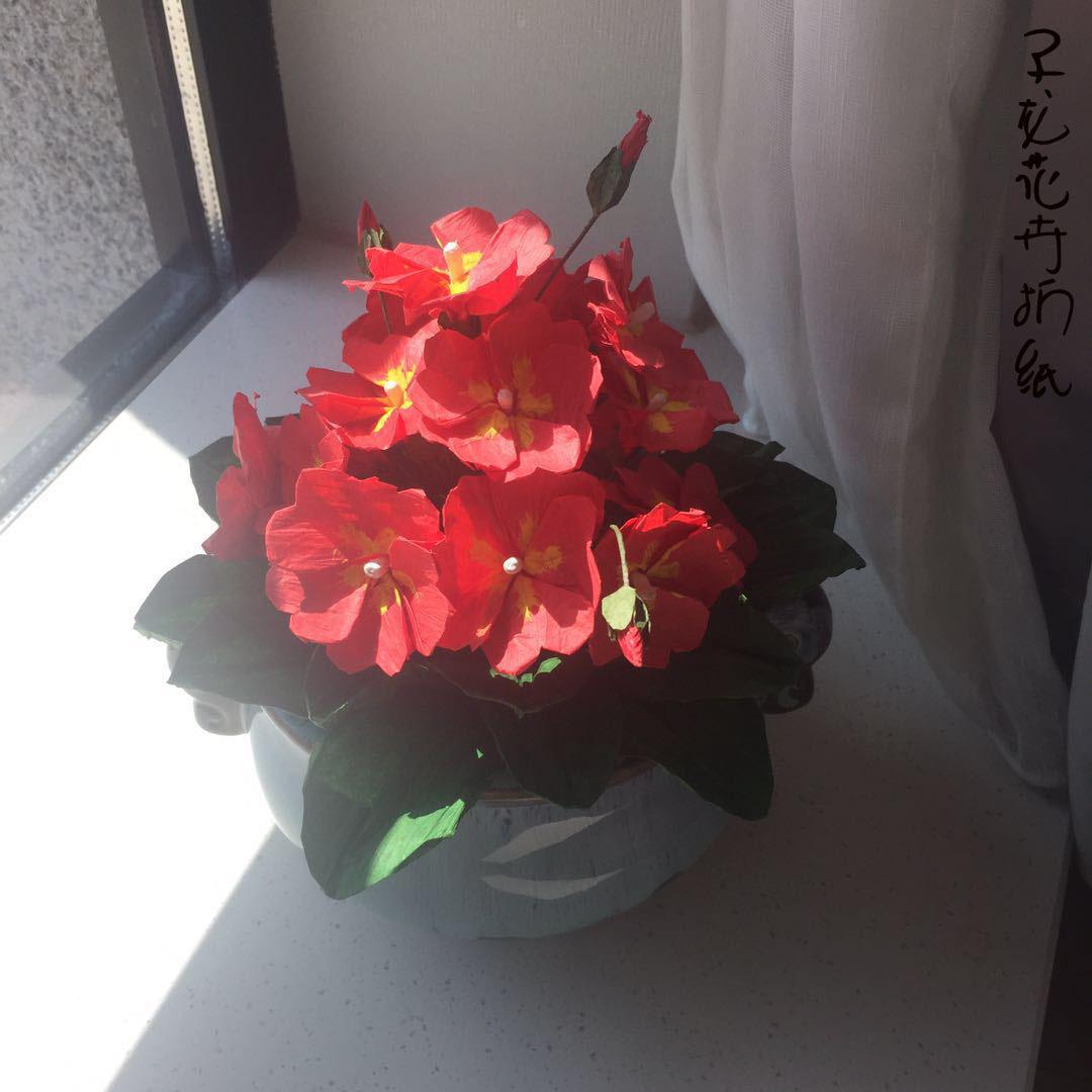 琵夕世界-纸藤花之绣球花制作-0001-手工爱好者 -
