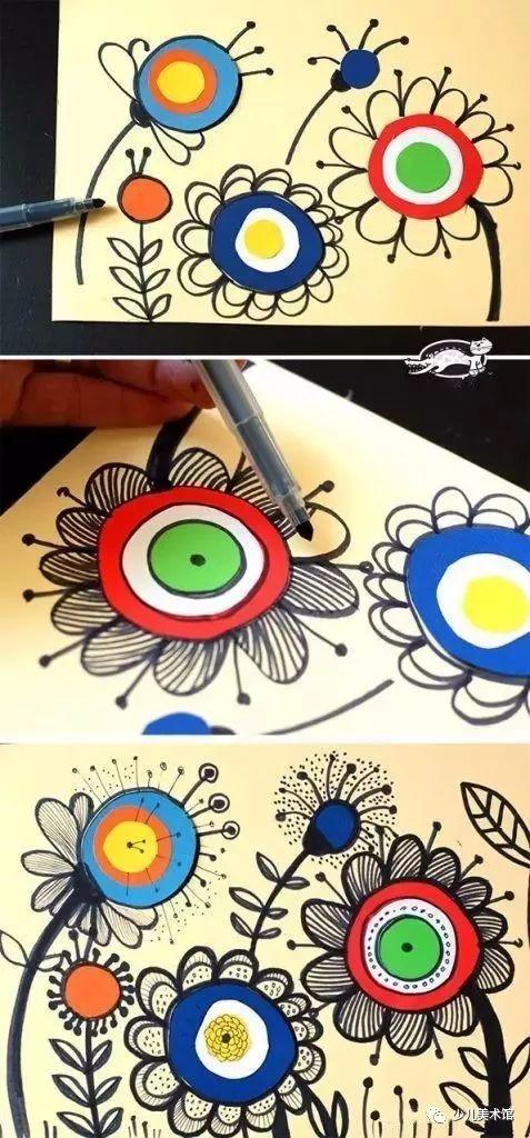 剪剪贴贴一幅画,孩子双手巧如花,一起学暑期美术吧图片