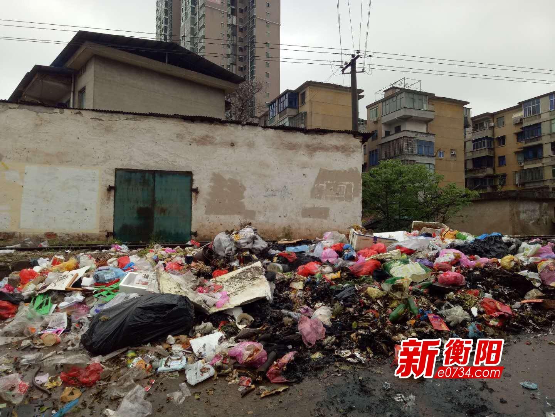 "<b>""创卫""曝光台:太难闻了!衡阳珠晖区江东村垃圾堆积成山长达一年</b>"
