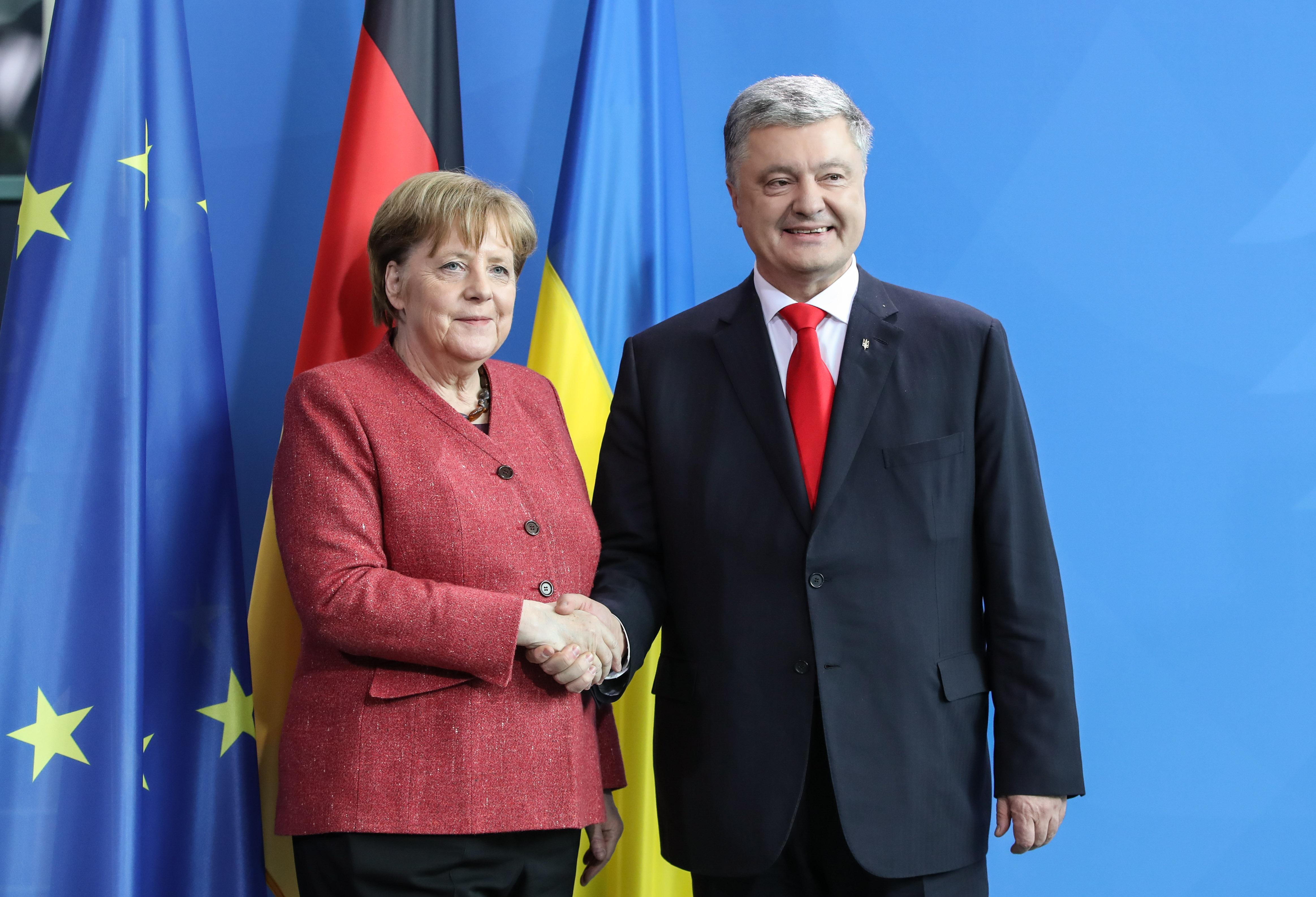 乌克兰总统波罗申科访问德国