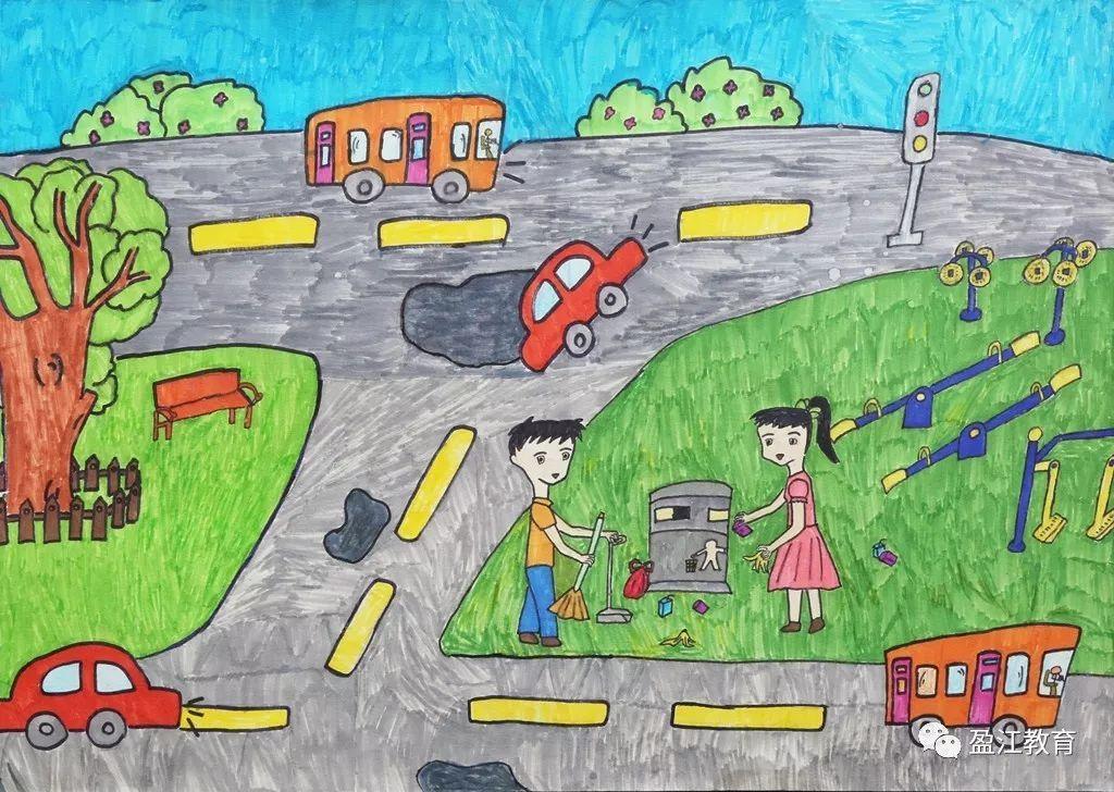 盈江县2019年 新时代好少年 我为祖国点赞 主题教育读书活动绘画参赛作品 小学组